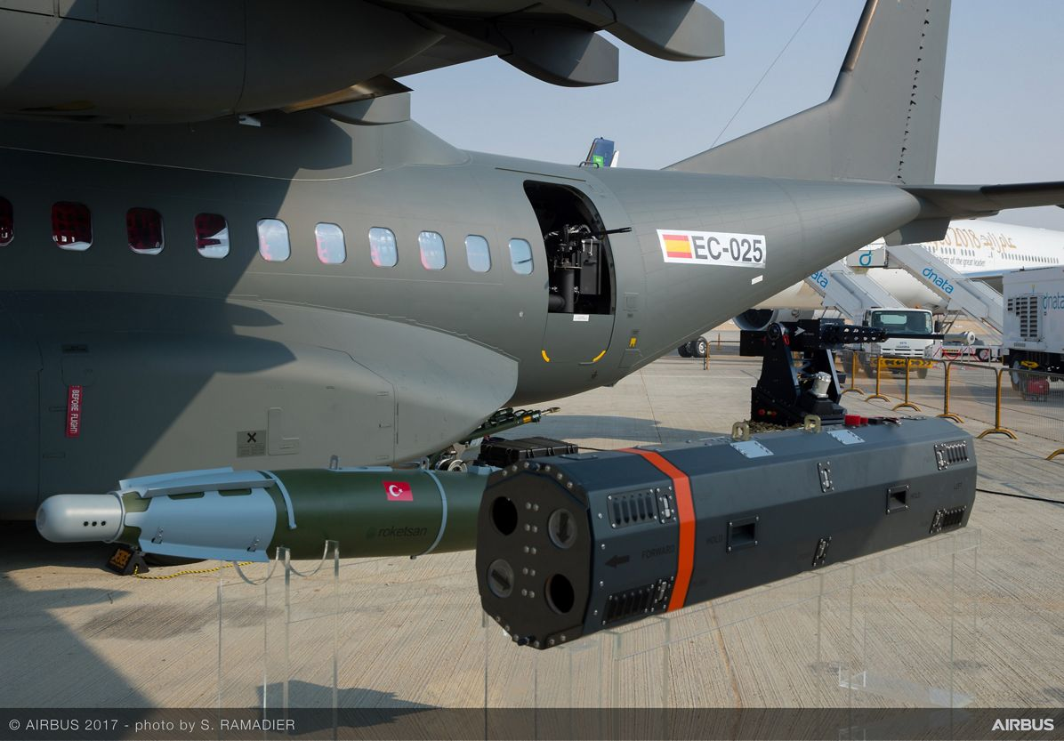 Airbus displays comprehensive range of weapons for armed C295
