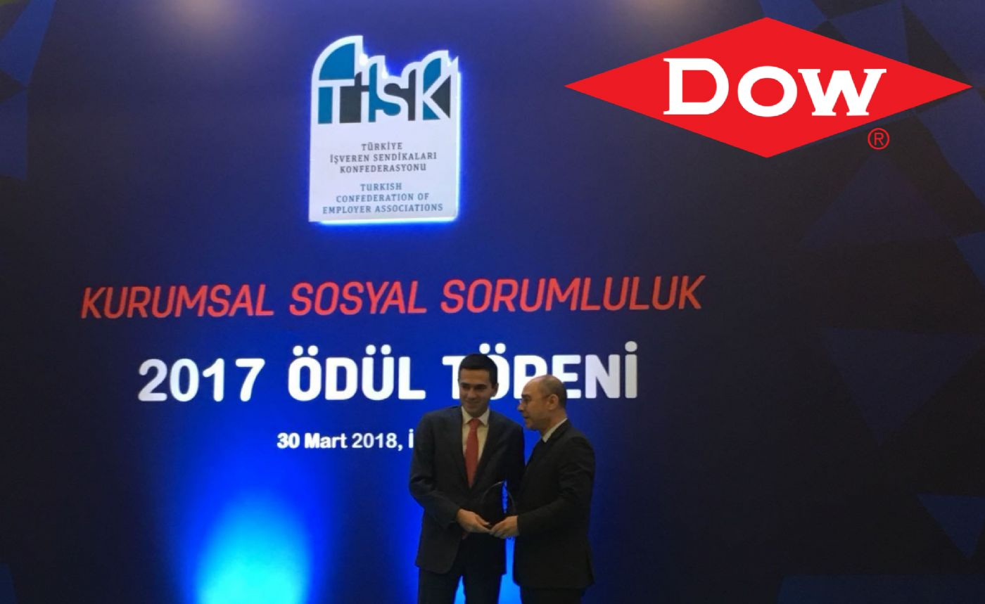 "Dow Turkey awarded for its ""Chemistry of Teaching"" project"