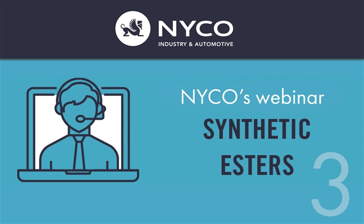 NYCO to host a webinar on syntetic esters on December 1st